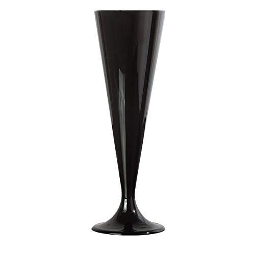 10 flûtes à champagne design plastique jetables couleur noir - Adiserve -