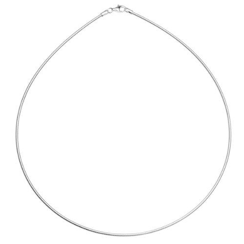 InCollections Damen-Halsreif 925/000 Sterlingsilber Omega 1,8/45 cm