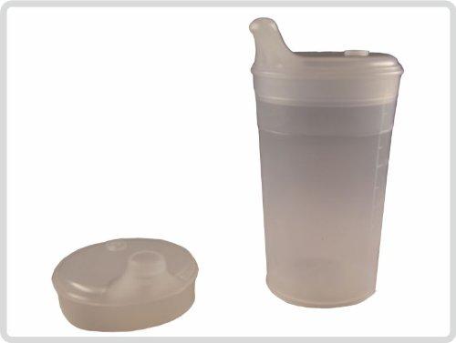 Schnabelbecher/Trinkbecher mit Deckel für Tee und Brei kurzes Mundstück/transparent