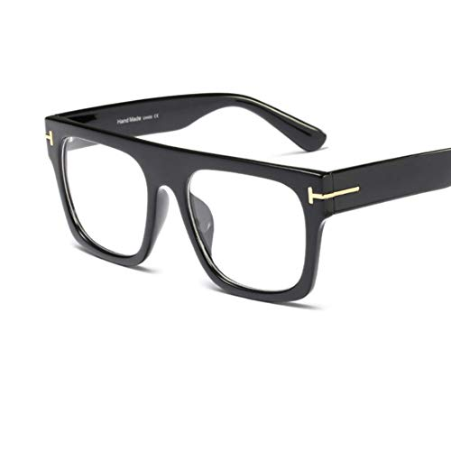 Rjjdd 2019 Brillen übergroßen Brillengestell Square Computer großen Brillengestell Männer Vintage Black Brillengestell