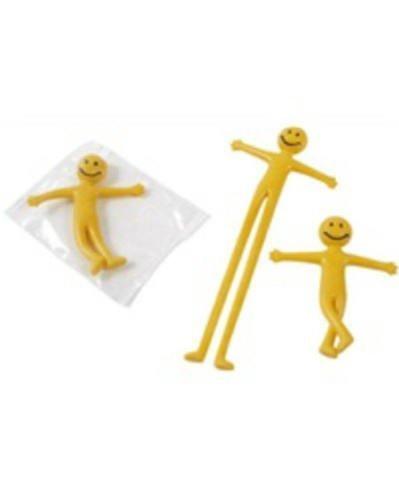 12 x Mini Smiley Federn - Mitgebseltüte Füller - Verschiedene, Stretchy Smiley Herren