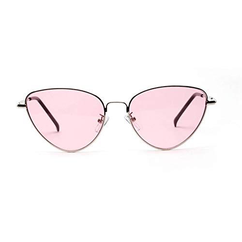 ZRTYJ Sonnenbrille Cat Eye Damen Sonnenbrille Getönte Farblinse Vintage Geformte Sonnenbrille Damen Brillen 70Er Luxe Red Damen Sonnenbrille Uv400