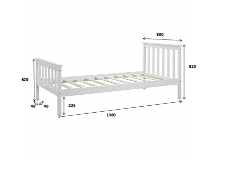 Unmatchable Wooden Bed Frame Natural Pine Double King Single Size Solid Pine (Single 3FT)