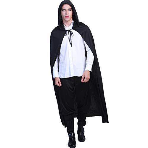 EraSpooky Mit Kapuze Vampir Kap Erwachsene zum Karneval und Halloween