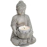 Buda con Loto como portavelas