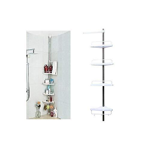 Shine 4Niveles telescópica Ajustable baño Organizador estantería esquinera de Ducha estantería de Accesorio de Color Blanco