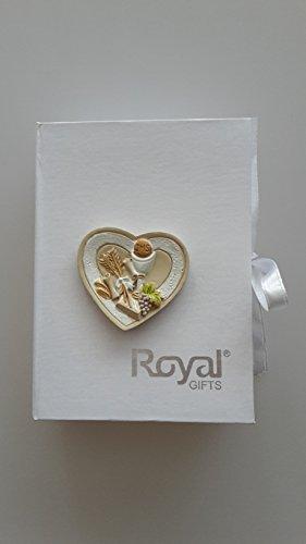 Geschenkset Kommunion in Box Herz Kelch Keramik Rosenkranz Armband mit Kreuz Festliche Anlässe Kommunion *NEU & OVP*