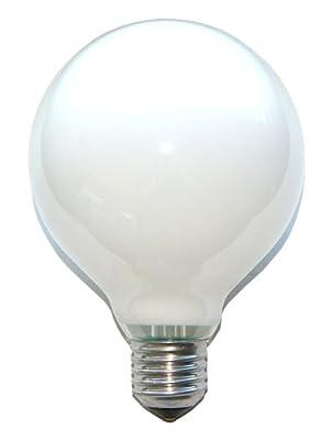 1 x Globe Glühbirne Glühlampe 60W 60 Watt E27 OPAL G95 95mm Globelampe