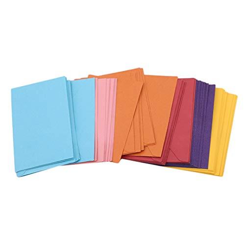 Weryffe 50 Stücke Retro Blank Mini Papierumschläge Hochzeit Einladung Grußkarten Geschenk Buch Dekoration Zubehör (Bunt)