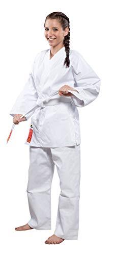 Hayashi Heian Official Wkf Kimono Karate Unisex Adulto, Bianco, 160 cm