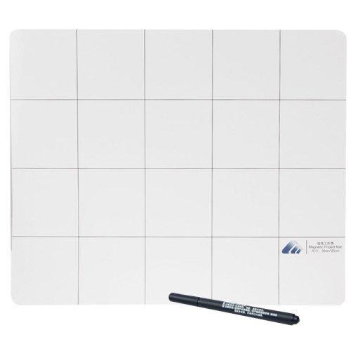Pannello Lavagna Magnetica 30cm x 25cm con Marker Pen per iPhone / Samsung Ideale per riparare Smartphone e Tablet