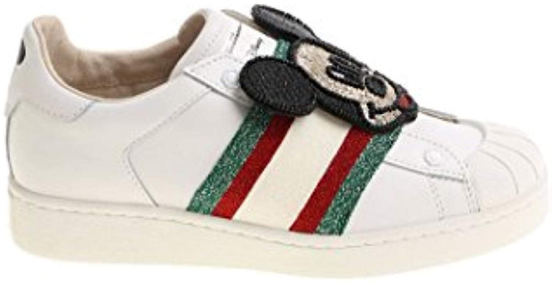 Moa Mujer MD182M08B Blanco Cuero Zapatillas  Venta de calzado deportivo de moda en línea