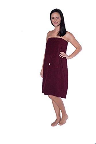Damen Saunakilt mit Klettband Kilt mit Tasche Sauna Sarong Wellnesstuch Größe S-L oder XL-XXL Klettverschluss, Größe:XL/XXL