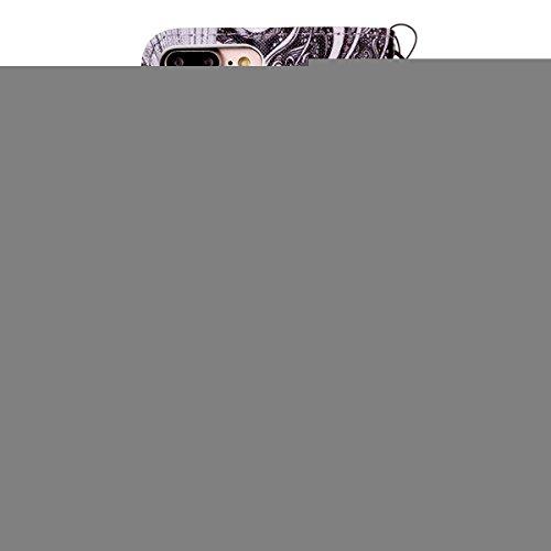 Felfy Hülle für iPhone 7 Plus 5.5 Zoll,iPhone 7 Plus Case,iPhone 7 Plus Cover PU Ledertasche Strap Flip Standfunktion Magnetverschluss Luxe Bookstyle Ledertasche Nette Retro Mode Painted Muster Abdeck Schwarz-weiß-Baum case