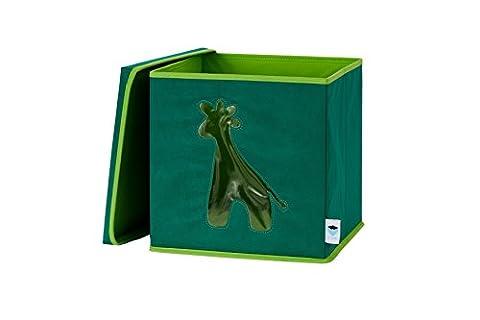 Store. It 670261Rangement pour Jouets avec fenêtre, girafe, Matériau non tissé, vert, 30x 30x 30cm