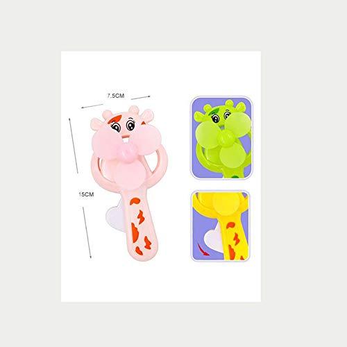 creatspaceE Mini-Fächer in Cartoon-Form schüttelt Hand und Pressen zum Anpassen von OGO 61 Kinder-Geschenk, Handgerät, USB-Ladeventilator zufällig