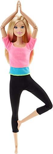 Barbie DHL82 Barbie Made to Move Puppe mit pinkem Top, bewegliche und sportliche Modepuppe mit 22 Gelenken, ab 3 Jahren (Barbie Sport)