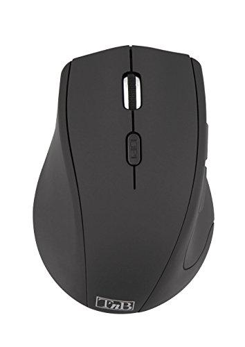 T'nB MWLEFT Optische Kabellose Maus für Linkshänder Schwarz -