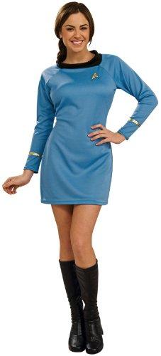 2009 Star Trek Kostüm (Deluxe Kostüm Star Trek blauen Frauen)