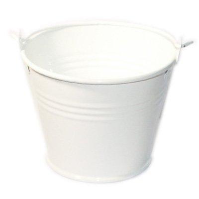 White Metal Favour Buckets (PACK OF 10) (XMEFABU01)