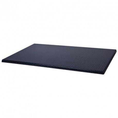 Werzalit Gastronomie Tischplatte Plus ca999Tischplatte rechteckig, 1100mm, Rattan Anthrazit