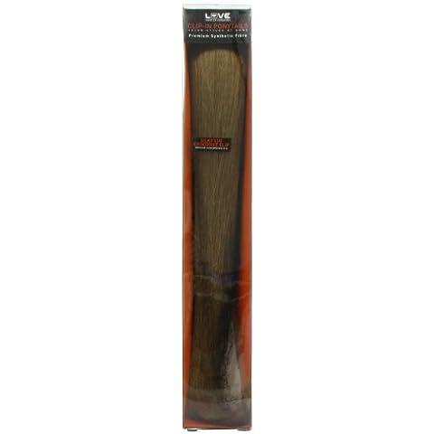 Extensiones de cabello sedoso amor Sue cola de caballo - la fijación con clip de cocodrilo - pelo sintético de alta calidad - Color 10 - Medium ceniza marrón, Paquete 1er (1 x 1 pieza)