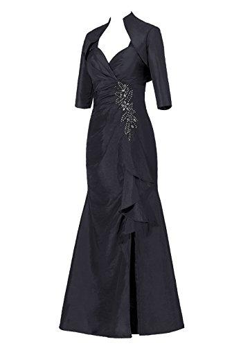 Dresstells, Robe de soirée Robe de cérémonie Robe de mère de la mariée en taffetas longueur ras du sol Noir
