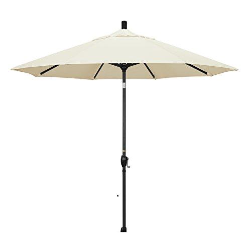 California Regenschirm 9-feet Pacifica Stoff Aluminium Push Button Tilt Markt Regenschirm mit Bronze Pole - 9' Market Umbrella Base