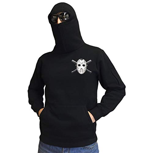 Ninja Kapuzenpullover NO PYRO NO Party (mit Rückendruck) Größe XL - 3XL