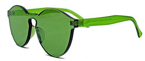 randlose Retro Sonnenbrille Furnished room Lens transparente Pantobrille UC15 (Green)