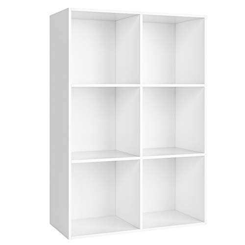 Homfa Bücherregal Bücherschrank Raumteiler Standregal Büroregal Holzregal Kinderregal Wandregal Aktenregal...