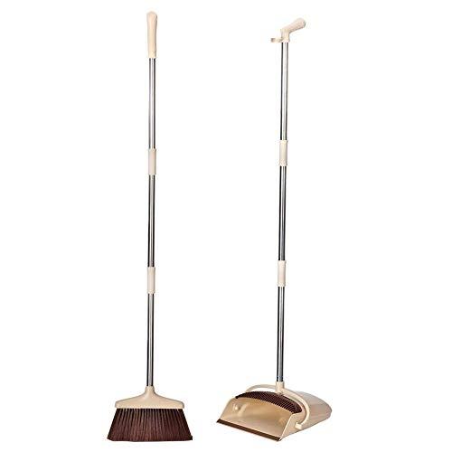 Ensemble balai et porte-poussière, porte-pique vertical avec poignée allongée et ensemble brosse pour bois franc et carrelage intérieurs et sol dur extérieur