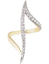 Saraa Dazzling Gold Plated American Diamond Ring For Girls/Women