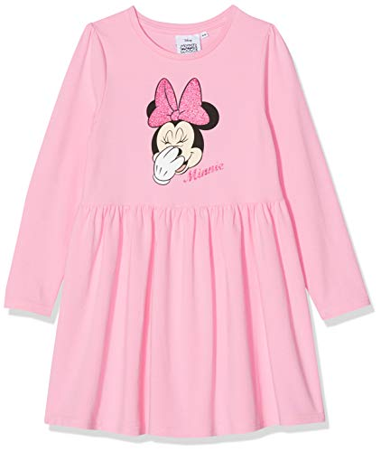 Disney Minnie Mouse Mädchen Minnie Mouse Glitter Bow Head Kleid, Pink, 3-4 Jahre - Bows Minnie