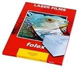 Farbdrucker- und Farbkopiererfolien weiß und klar, selbstklebend - A4, 0,05 mm, klar transparent, 50 Folien Beschichtete, selbstklebende Folie, für nahezu alle Farblaserdrucker und Farbkopierer. Mit Silikonpapier-Abdeckung. Reißfest, sehr wasser- und lichtbeständig, zum Einsatz auch bei extremen Innen- oder Außenbedingungen.