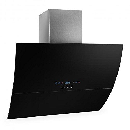 Klarstein RGL90BL - Hotte aspirante design moderne épuré (90cm, 550m³, timer) - verre noir