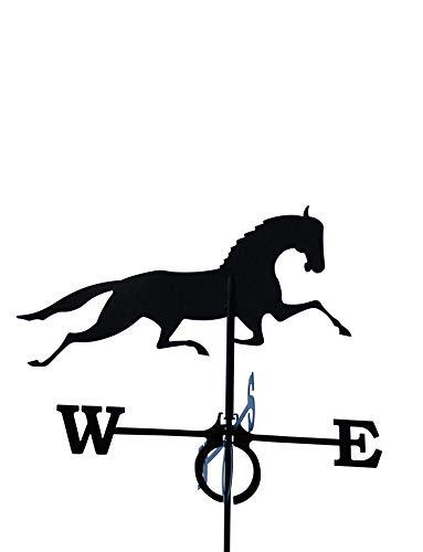 SvenskaV Wetterfahne Pferd in verschiedenen Größen, inkl. Dachfirst-Träger (78 x 82 cm)