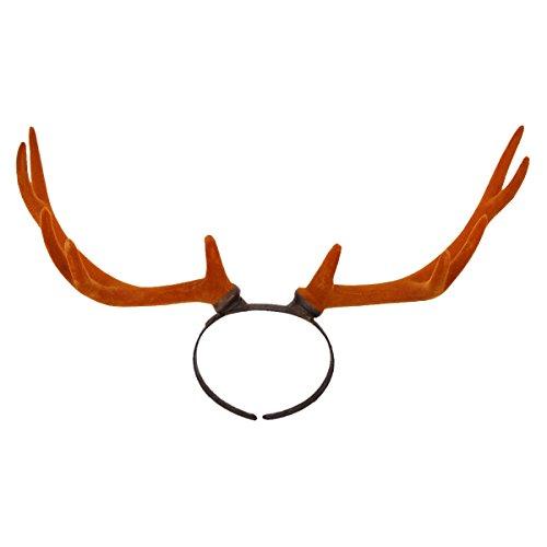 Yodensity Süß Weihnachten Geweih Haarreif Rentiergeweih Stirnband als Schmuck und Dekor für Weihnachten Karneval Fotografieren (Kostüm Geweih)