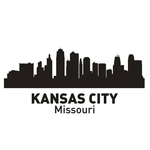 LoveMQ 27 * 60 cm KANSAS City Aufkleber Wahrzeichen Skyline Wandaufkleber Skizze Aufkleber Parede Home Decor Aufkleber -