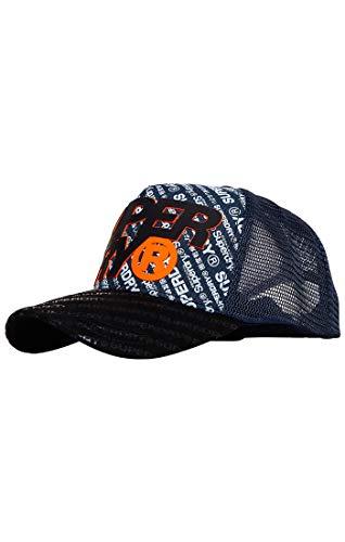 Superdry Herren SD Boy Baseball Cap, Blau (Navy Marl 97T), Einheitsgröße