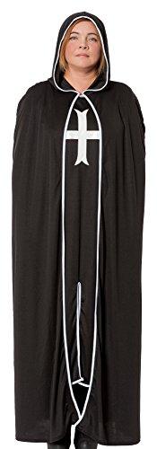 Kostüm Gothic Priesterin - R-Dessous Damen Kostüm Klosterfrau Nonne schwarz Ordensschwester Mittelalter Robe Kutte Horror Helloween Groesse: XXL/XXXL