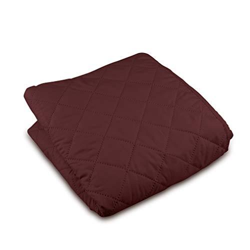 KINLO® Sofahusse 3 Sitzer 167×165 Weinrot Sofa überwurf 100% Baumwolle Füllung - 9