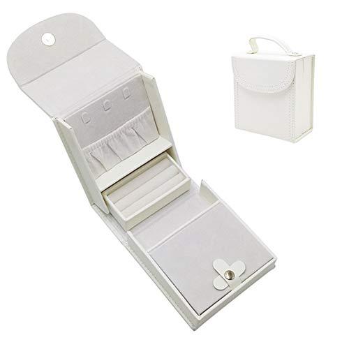 SXLJL Schmuckkästchen Mini Heart Jewelry Box Einfach Zu Tragender Faltbarer Griff,Gray