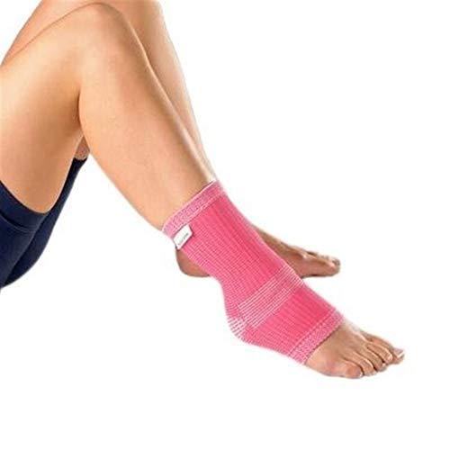 Beschützer Erweiterte elastische Knöchelunterstützung (PAAR) - for schwache Knöchel - Hilft, Wärme zu speichern - Dehnungen von Sehnen und Bändern - ROSA - Groß (25-28 cm) Pad