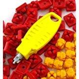 playmobil ® - X-System Burg - Verbinder - Noppen - 10 rot + 30 gelb + 1 Schlüssel gelb