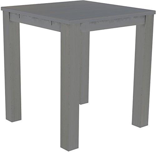 Brasil Meubles Haut 'Rio Classico' Table 120 x 120 cm, Pin Massif, Coloris Gris Soie