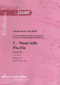 Partitions classique LAFITAN JOUBERT C.H. - MAM'ZELLE FLA FLA - CLARINETTE ET PIANO Clarinette