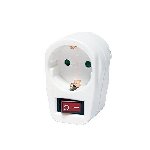 LogiLink PA0079 Energiespar-Steckdose mit Schalter, weiß