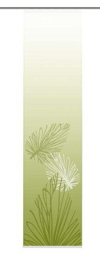 Home Fashion 86065-768 Capri - Estor (245 x 60 cm), diseño de Hojas, Color Verde