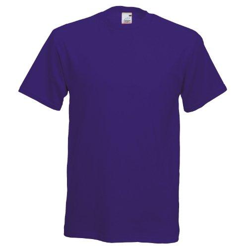 Fruit of the Loom Herren T-Shirt Violett - Violett
